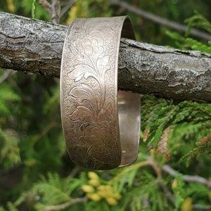 Vintage sterling bracelet cuff